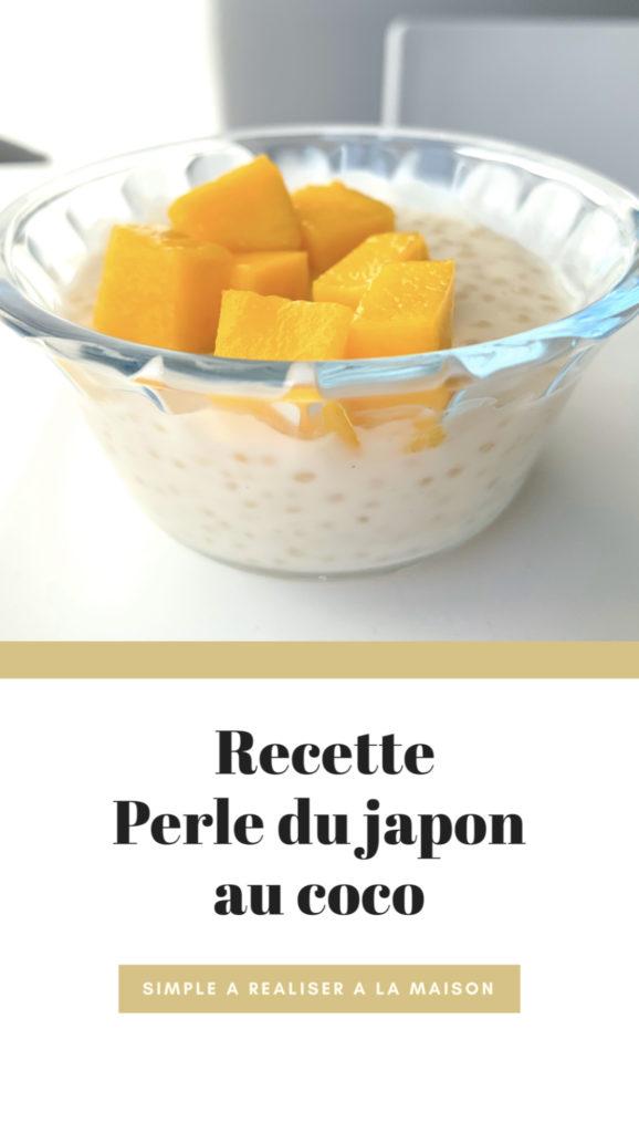 Recette perle du japon coco stefy