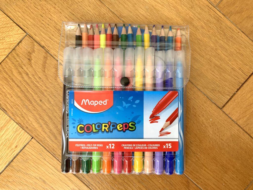 Crayon de couleur et feutre MAPED