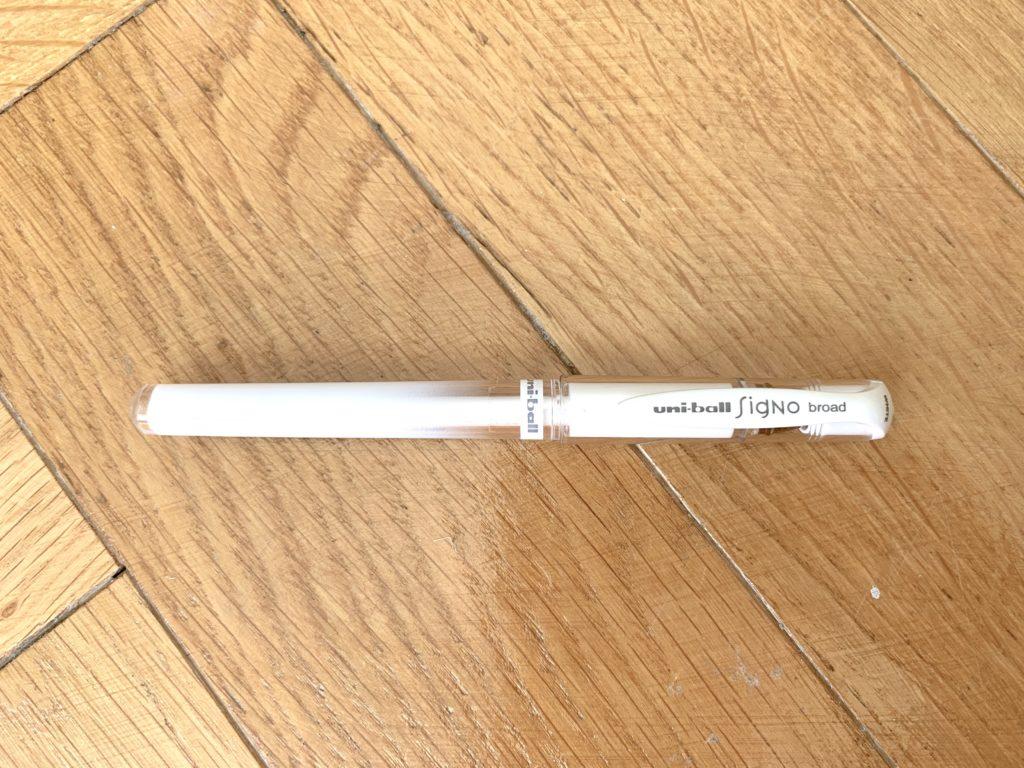Uniball SIGNO stylo blanc
