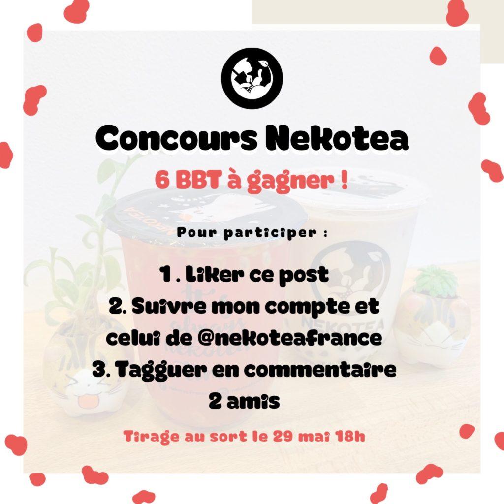 Concours Nekotea x Stéfy - Bubbletea à gagner