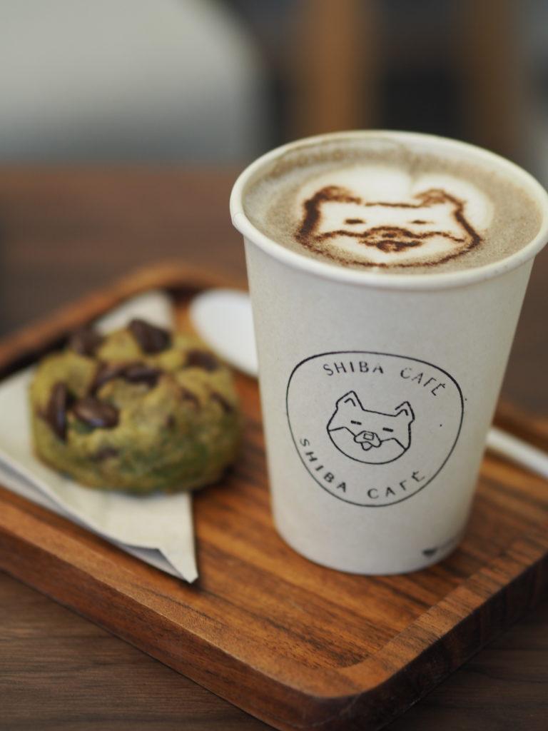 Hojicha Latte de Shiba café