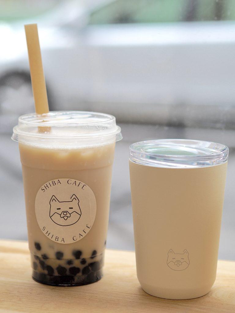 Milky Blend et bubble tea de Shiba café